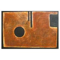 """""""Composition symbolique I"""" - Mixte sur panneau - 40"""" X 60'' - 2012"""