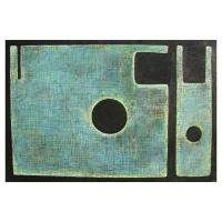 """""""Composition symbolique III"""" - Mixte sur panneau - 40"""" X 60'' - 2012"""