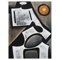 """""""Expression interne"""" - Mixte sur panneau -48"""" X 36'' - 2012"""