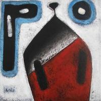 """""""Composition sans nom"""" - Acrylique sur panneau - 12""""x12"""" - 2015"""