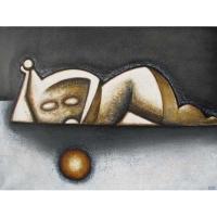 """""""Adoration"""" - Acrylique sur toile - 21""""x 29"""" - 2015"""