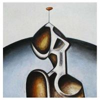 """""""Composition sculpturale III"""" - Mixte sur panneau - 36"""" X 36'' - 2012"""