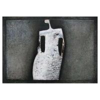 """""""Reflet blanc"""" - 17,5"""" X 25'' - Acrylique sur panneau - 2010"""