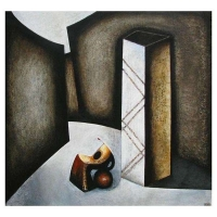 """""""Compositon monumental"""" - 48"""" X 46'' - Acrylique sur panneau - 2010"""
