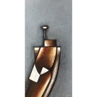 """""""Figure"""" - Acrylique sur panneau - 24""""x12"""" - 2014"""