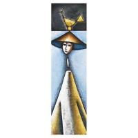 """Adoration III"" - Mixte sur panneau - 48"" X 14'' - 2012"