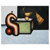 """""""Dialogue I"""" - 48"""" X 60"""" - Mixte sur panneau - 2012"""