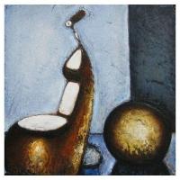 """""""Composition I"""" - 12"""" X 12'' - Acrylique sur panneau - 2010"""
