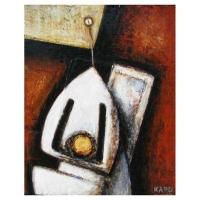 """""""Passion1"""" - 8"""" X 6'' - Acrylique sur panneau - 2010"""