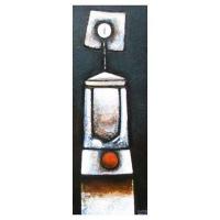 """""""Méditation"""" - 28"""" X 16'' - Acrylique sur panneau - 2011"""