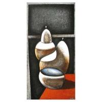 """""""Composition"""" - 24"""" X 12'' - Acrylique sur panneau - 2011"""
