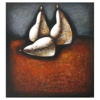 """""""Trois Poires"""" - Acrylique sur panneau - 24"""" X 22'' - 2009"""
