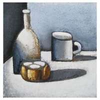 """""""Trios pommes"""" - 12"""" X 12'' - Acrylique sur panneau - 2011"""