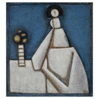"""""""Bleu céruléum"""" - 24"""" X 22'' - Acrylique sur panneau - 2007"""
