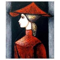 """""""Profil I"""" - 17"""" X 14'' - Acrylique sur panneau - 2007"""