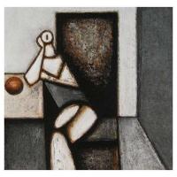 """""""Monologue"""" - 12"""" X 12'' - Acrylique sur panneau - 2007"""