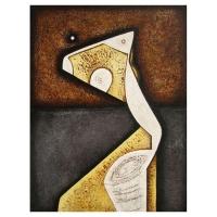 """""""Expression l"""" - 40"""" X 30'' - Acrylique sur panneau - 2009"""