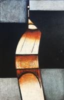 ''Figure stylisee II''-Acrylique sur panneau-32''x22''-2017