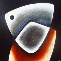 ''Fusion II''-Acrylique sur panneau-36''x36''