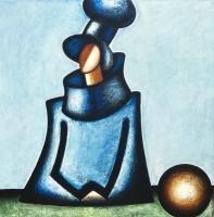 ''Le contempleur''-Acrylique sur panneau-36''x36''-2017