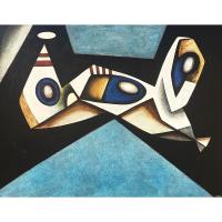''Osmose des corps''-Acrylique sur toile-48''x60''-2017