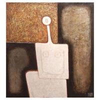 """""""Idole blanche"""" - 24"""" X 22"""" - Acrylique sur panneau - 2006"""