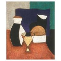 """""""Trois objets"""" - 24"""" X 20"""" - Acrylique sur panneau - 2004"""