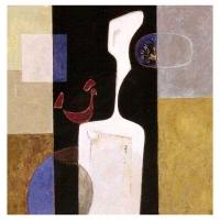 """""""Dialogue"""" - 3"""" X 3"""" - Acrylique sur toile - 2001"""