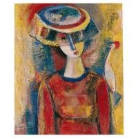 """""""Peinture"""" - Acrylique sur panneau -1994"""